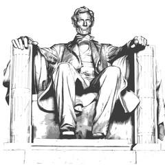 Lincoln - mémorial - Abraham Lincoln - monument - statue - symbole - Capitole - États Unis - national