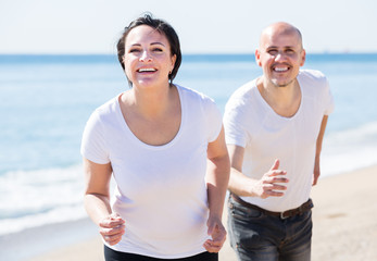 running mature couple