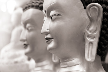Close up shot of Buddha statue
