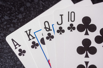 club royal flush cards