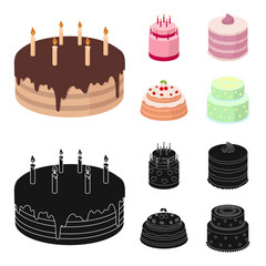 Sweetness, dessert, cream, treacle .Cakes country set collection icons in cartoon,black style vector symbol stock illustration web.
