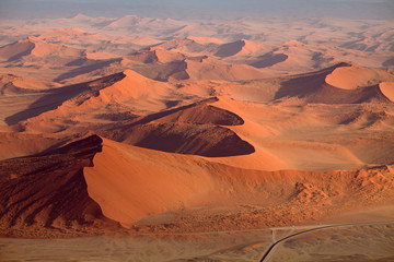 Photo sur Aluminium Rouge traffic Namib-Naukluft Nationalpark