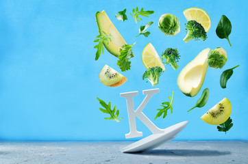 Flying foods rich in vitamin k. Green vegetables
