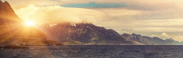 Sunrise over Lofoten Islands, Norway