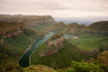 Deurstickers Canyon The beautiful Blyde River Canyon in Mpumalanga, South Africa - one of Africa's Natural Wonders