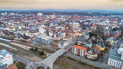 Luftbild Worms Innenstadt