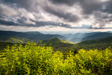 North Carolina Blue Ridge Parkway Scenic Nature Appalachian Mountain Landscape