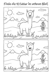 Fehlerbild Alpaka