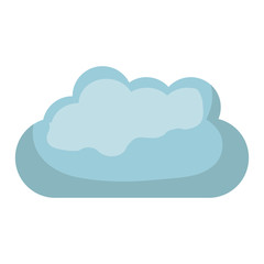 white background with blue cloud vector illustration