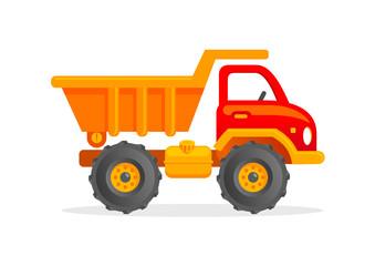 Toy truck cartoon illustration