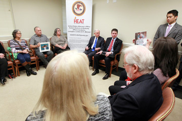 United States Attorney General Jeff Sessions visits families of opioid overdose victims in Lexington