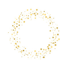 Stream gold stars on a white background. Vector
