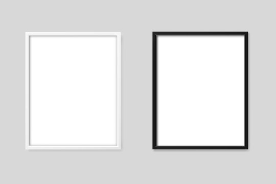 White and black frames mockup