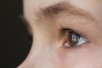 Close up macro of child boy eye