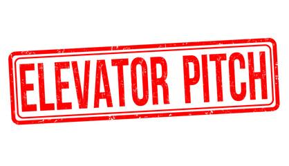 Elevator pitch grunge rubber stamp