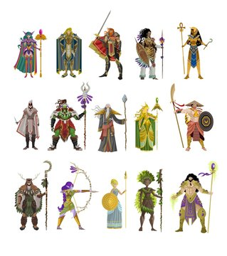 rpg videogame characters collection
