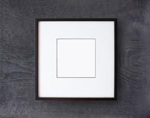 Black frame on wall