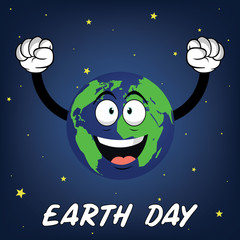 Happy earth day vector illustration