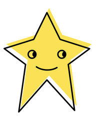 moved color video game star character icon