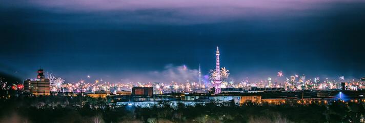 Foto auf Acrylglas Berlin berlin fireworks panorama