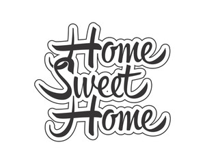 home sweet home typography typographic creative writing text image icon 4