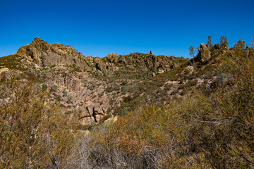 Pinnacles National Forest, blue sky day