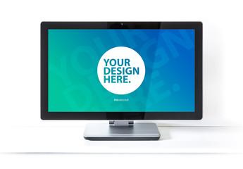 Desktop Computer  Mockup on White Background