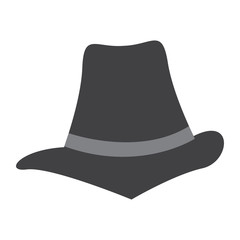 Hipster hat icon