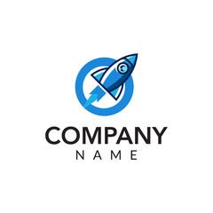 Rocket consulting vector logo icon illustration