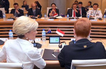 Indonesia's Defence Minister Ryamizard Ryacudu and Foreign Minister Retno Marsudi hold bilateral talks with Australia's Foreign Minister Julie Bishop and Defence Minister Marise Payne in Sydney