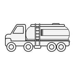 Gas truck vehicle vector illustration graphic design