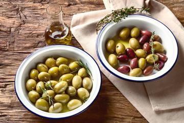 Different kind of olives