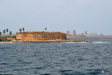 Senegal, Dakar. French colonial buildings, Goree Island