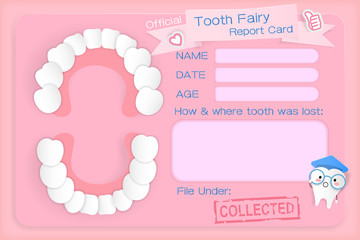 tooth fairy report card