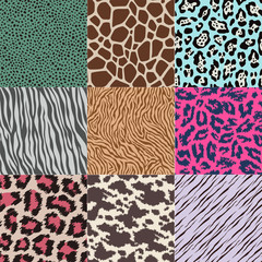 repeated wildlife animal skin texture background