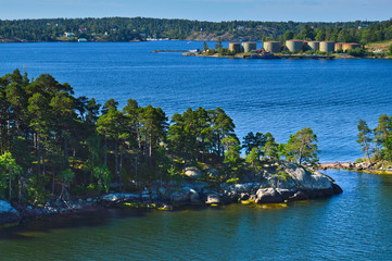 Islets of Stockholm Archipelago in Baltic Sea, Sweden