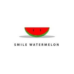 Watermelon Smile Vector Template Design