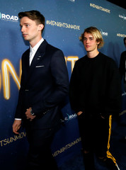 "Cast member Schwarzenegger and recording artist Bieber attend the premiere of ""Midnight Sun"" in Los Angeles"