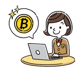 女子学生:インターネット、仮想通貨