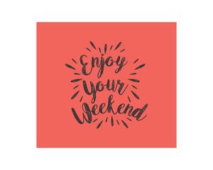 enjoy weekend typography typeface typeset logotype alphabet image vector icon 1