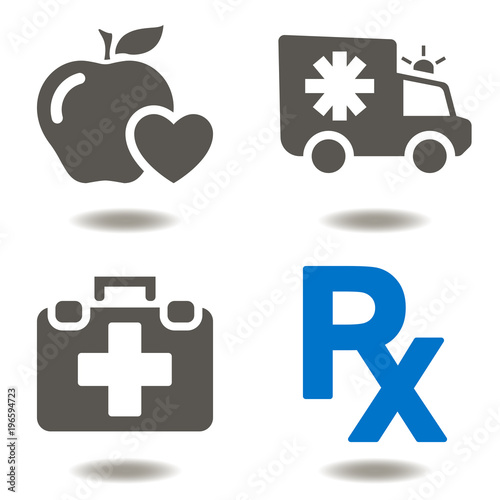 Healthcare Emergency First Aid Ambulance Icon Vector Medicine Cure