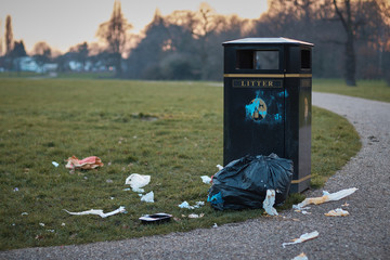 The litter bin .