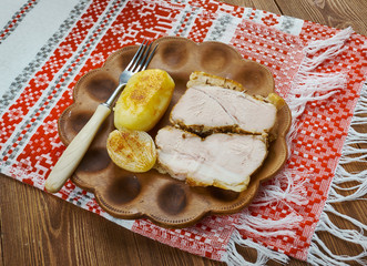 Transcarpathian cold boiled pork