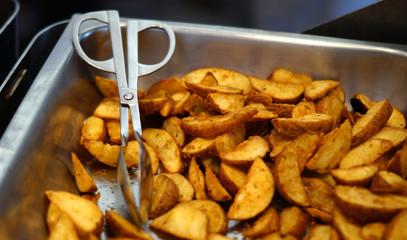 indian street food potato fry
