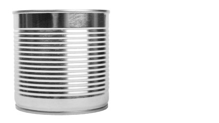 aluminum container can. Isolated on white background. copy space, template