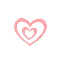 cute heart design icon. love concept. valentine day. vector illustration