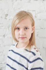 Portrait of a teenage girl blonde