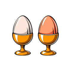Eggs Holder icon. Eggs-cup.  illustration.