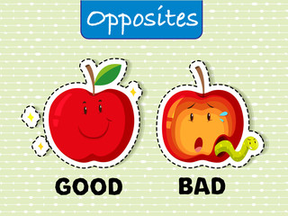 Opposite words for good and bad
