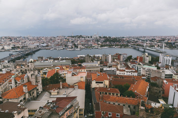 aerial view of buildings in Istanbul, Turkey